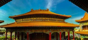 Beautiful Architecture of Wat Borom Raja Kanjanapisek or Wat Len Royalty Free Stock Photography