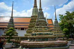 Wat Pho Buddhist Temple in Bangkok, Thailand. The beautiful architecture of Wat Pho Buddhist Temple in Bangkok, Thailand royalty free stock photography