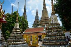 Wat Pho Buddhist Temple in Bangkok, Thailand. The beautiful architecture of Wat Pho Buddhist Temple in Bangkok, Thailand royalty free stock images