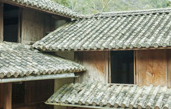 Beautiful architecture wooden houses, Vuong's House palace Stock Images