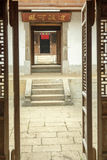 Beautiful architecture wooden houses, Vuong's House palace stock photography