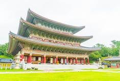 Yakcheonsa Temple in Jeju Island, South Korea. Beautiful architecture at Yakcheonsa Temple in Jeju Island, South Korea Stock Images