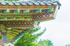 Yakcheonsa Temple in Jeju Island, South Korea. Beautiful architecture at Yakcheonsa Temple in Jeju Island, South Korea Stock Photo