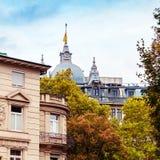 Architectures of Baden-Baden. Beautiful architectures of Baden-Baden, Germany royalty free stock photography