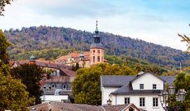 Architectures of Baden-Baden. Beautiful architectures of Baden-Baden, Germany royalty free stock photos