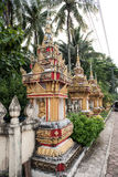 Beautiful Architectures in That Luang. View of majestic architectures in Pha That Luang. That Luang or Great Stupa is considered the most sacred place and is a Royalty Free Stock Images