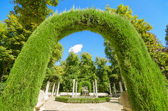 Beautiful Archway in Aranjuez royal palace gardens, Spain. Royalty Free Stock Photo
