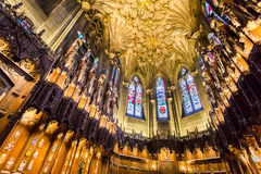 Beautiful archway in the Cathedral of Edinburgh Royalty Free Stock Photography