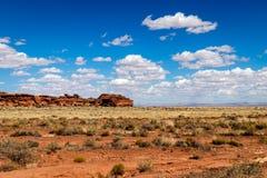 Arizona Desert Landscape. Beautiful Arizona desert landscape under blue sky royalty free stock photo