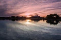 Beautiful Arizona Lake Sunset Royalty Free Stock Image