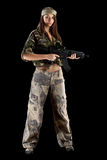 Beautiful army girl Stock Images