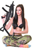 Beautiful army girl Royalty Free Stock Image
