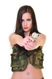 Beautiful army woman Stock Photo