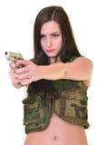 Beautiful army woman Royalty Free Stock Photos