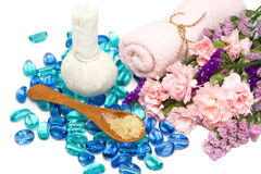 Beautiful aroma spa accessories Stock Images