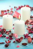 Beautiful aromatic candle Royalty Free Stock Photos