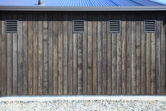 Beautiful arrangement of farm house wooden wall Stock Photography