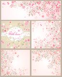 Beautiful arrival cards Royalty Free Stock Photography