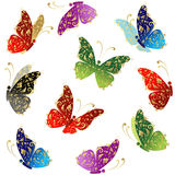 Beautiful art butterfly flying Royalty Free Stock Photos