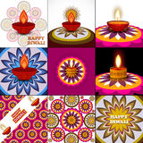 Beautiful art colorful diwali artistic diya rangoli Stock Photos