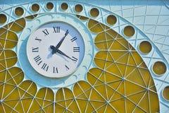 Beautiful art-deco clock and metal-work Royalty Free Stock Photos