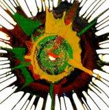 Beautiful art done by Rotator Painter, a child art Stock Photo