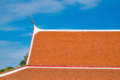 Beautiful art roof of the Buddhism temple, Thailand. Orange roof Stock Photography