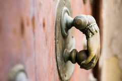 Beautiful art sculpture door handle Stock Photos