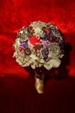 Beautiful artificial bouquet of brooches Royalty Free Stock Images