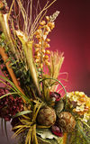 Beautiful Artificial Flower Arrangement in a Vase. Photo of a Beautiful Artificial Flower Arrangement in a Vase royalty free stock image