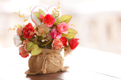 Beautiful artificial flowers Royalty Free Stock Images
