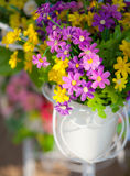 Beautiful artificial flowers Stock Photography