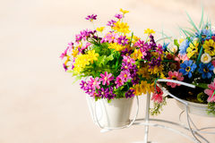 Beautiful artificial flowers Stock Image
