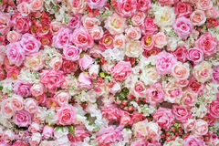 Beautiful artificial flowers for background. Royalty Free Stock Images