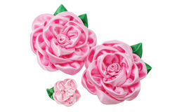 Beautiful artificial flowers of handwork Stock Image