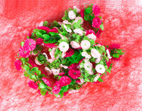 Beautiful artificial flowers. Stock Image