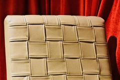 Part of a luxurious chair unique photograph. A beautiful artificial leather made luxurious chair cover unique stock photograph stock photo