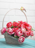 Beautiful artificial roses Royalty Free Stock Images