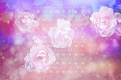 Beautiful artistic background with pink roses. Beautiful artistic background with romantic pink roses Royalty Free Stock Photo