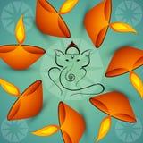 Beautiful Artistic colorful Hindu Lord Ganesha Royalty Free Stock Images