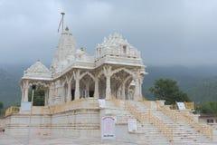 Jain temple, bheru tarak dham, rajasthan, India. This beautiful and artistic jain temple at jain pilgrimage  bheru tarak dham, rajasthan, India Royalty Free Stock Photography