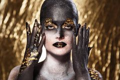 Beautiful, artistic makeup Royalty Free Stock Image