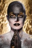 Beautiful, artistic makeup Stock Photos