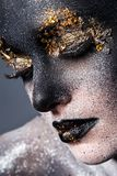 Beautiful, artistic makeup Stock Photography