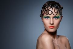 Beautiful, artistic makeup Royalty Free Stock Photo