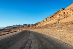Beautiful Artists Drive in Death Valley Stock Photos