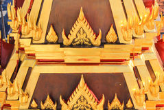 Beautiful arts and architecture at Loha Prasat,Wat Ratchanaddaram Royalty Free Stock Photo