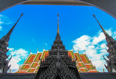 Beautiful arts and architecture at Loha Prasat,Wat Ratchanaddaram Royalty Free Stock Photography