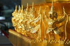 Beautiful arts at Suvarnabhumi airport. Decoration of golden garuda animal in fiction in the Suvarnabhumi airport, Bangkok, Thailand royalty free stock image
