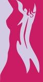 Beautiful artwork nude woman silhouette Stock Photos